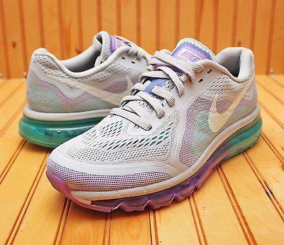 0e128860ff669 Women s 2014 Nike Air Max Size 9 - Grey Turquoise Purple - 621078 ...
