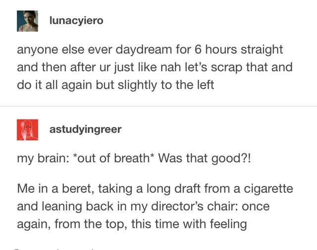 Yeah, it's called writing.