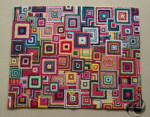 Ch0801 Shikaku Rag Rug   Hooked Rug   Plan To Do Circles Instead Of Squares