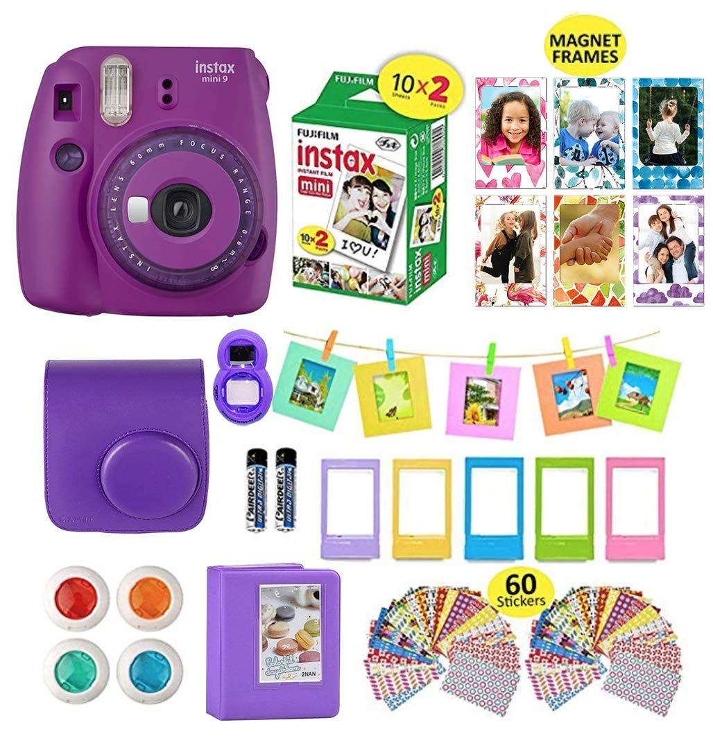 Fujifilm Instax Mini 9 Camera Bundle Ice Blue Instant Camera Film 20 Sheets Instax Case Instax Camer Instax Mini Instax Instax Accessories