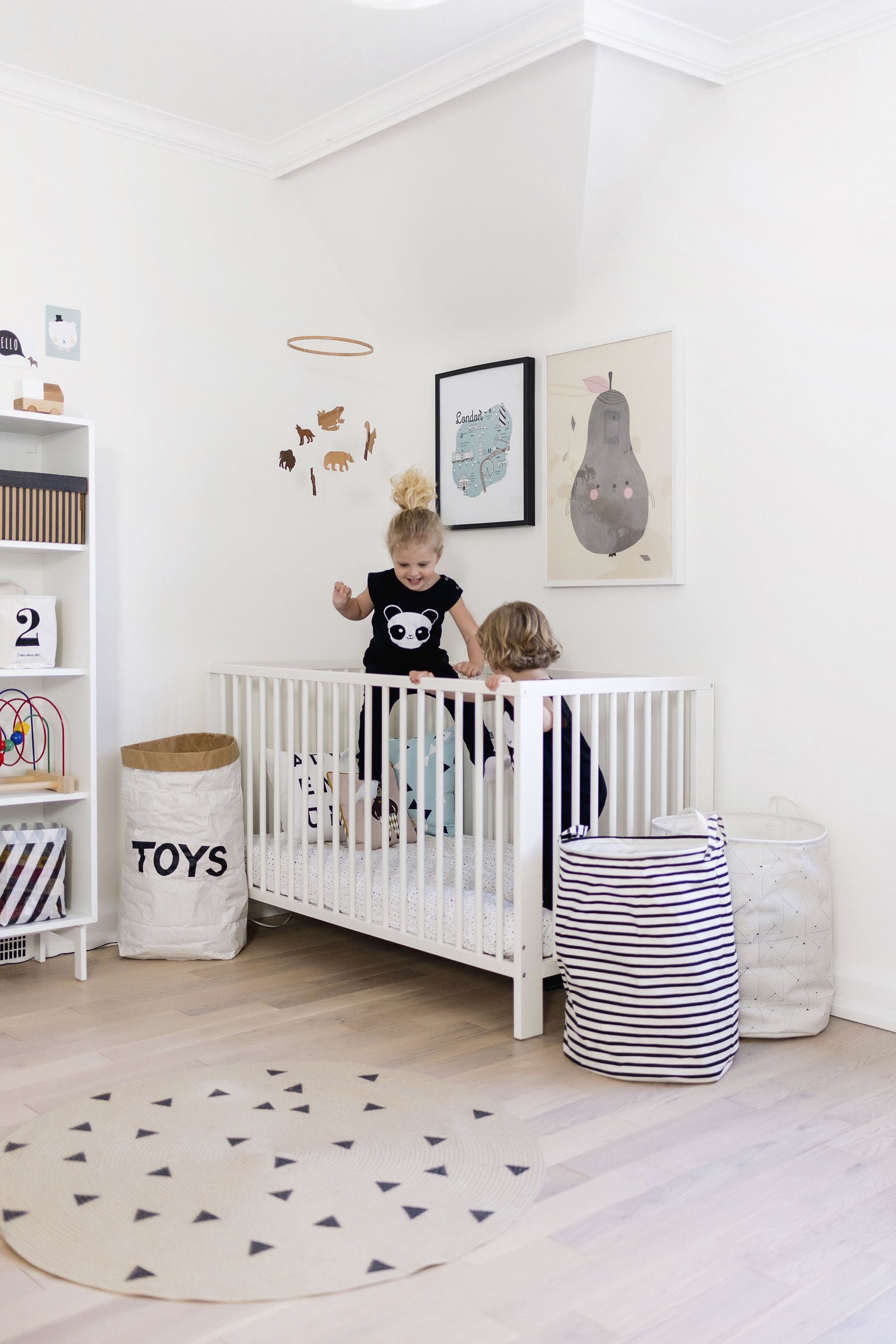 Modern Pastel Scandinavian Inspired Nursery Shared Kids