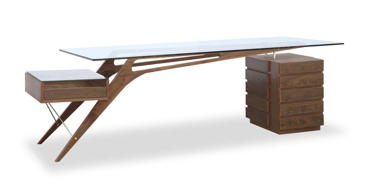 Amazon kardiel protractor desk midcentury modern walnut