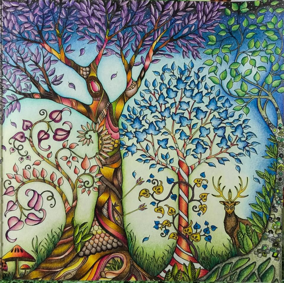 Johanna Basford Trees From Enchanted Forest Colored By Wen Z De DC