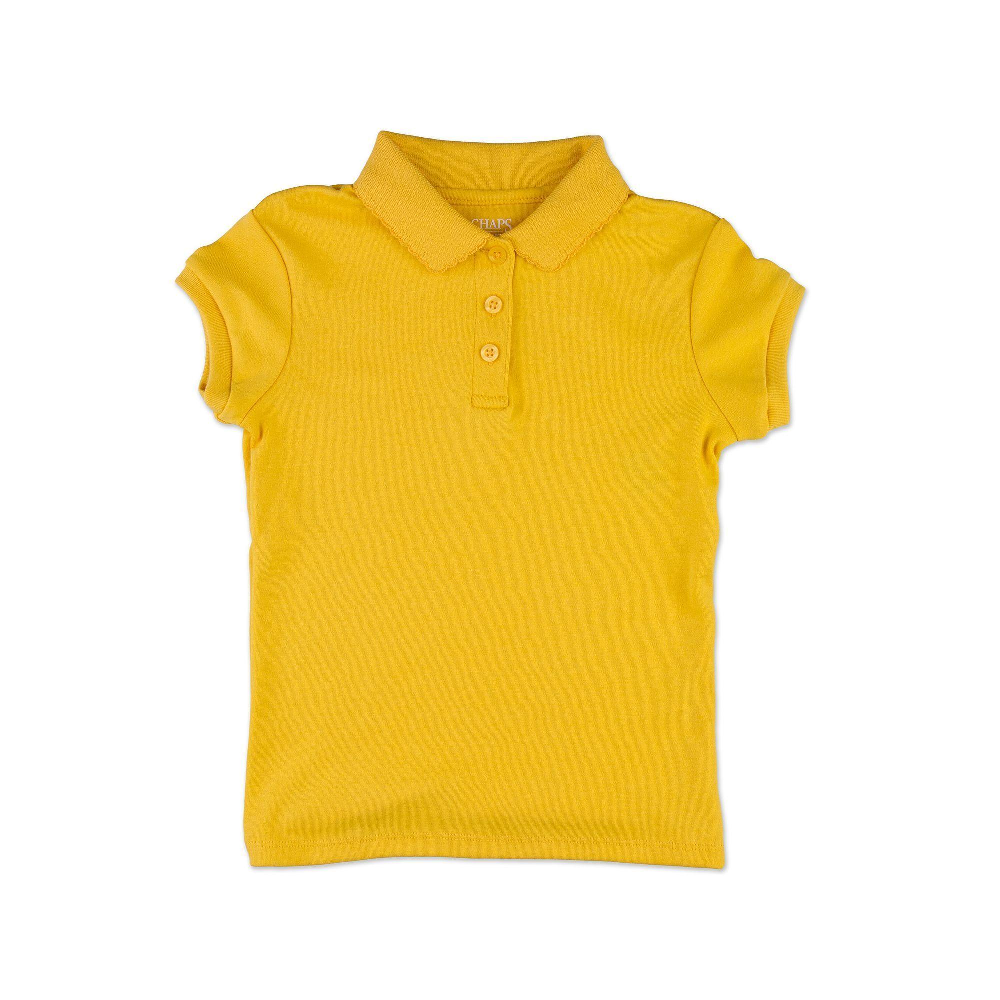 091f19a41e0 Girls 4-16   Plus Chaps School Uniform Picot Polo Shirt