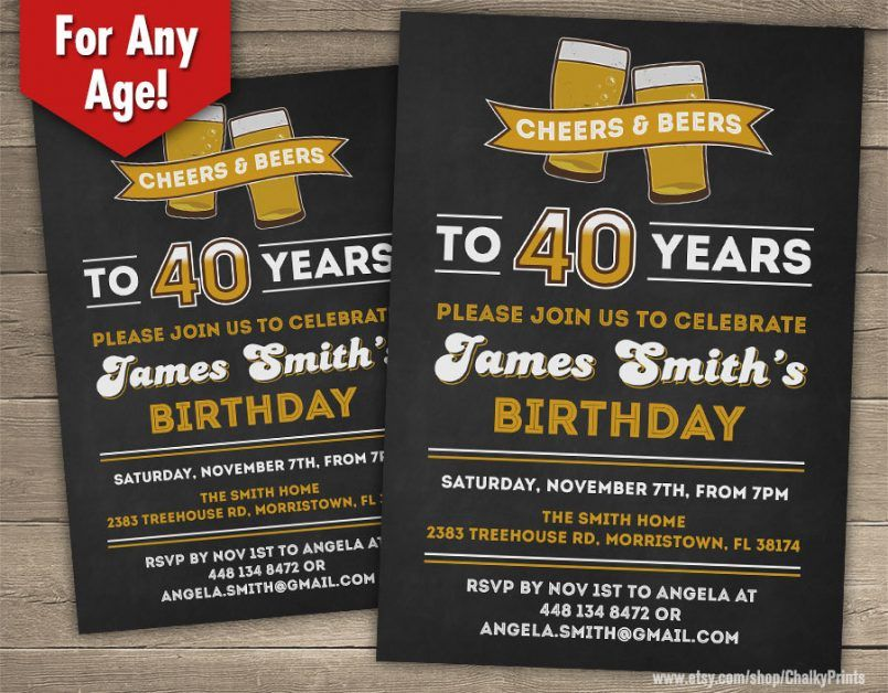 Template40th Birthday Party Invitation Wording For Him Plus 21st Surprise Invitations In Conjunction With 40th