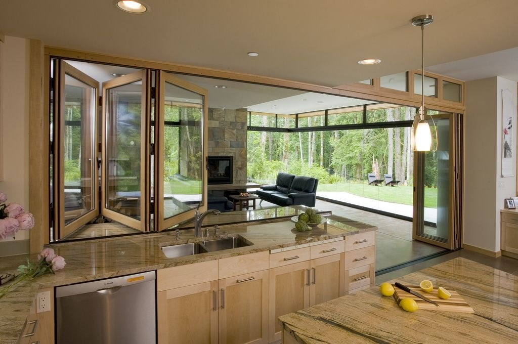 NanaWall Kitchen Transition Love This For Defining Space Between And Screen Porch