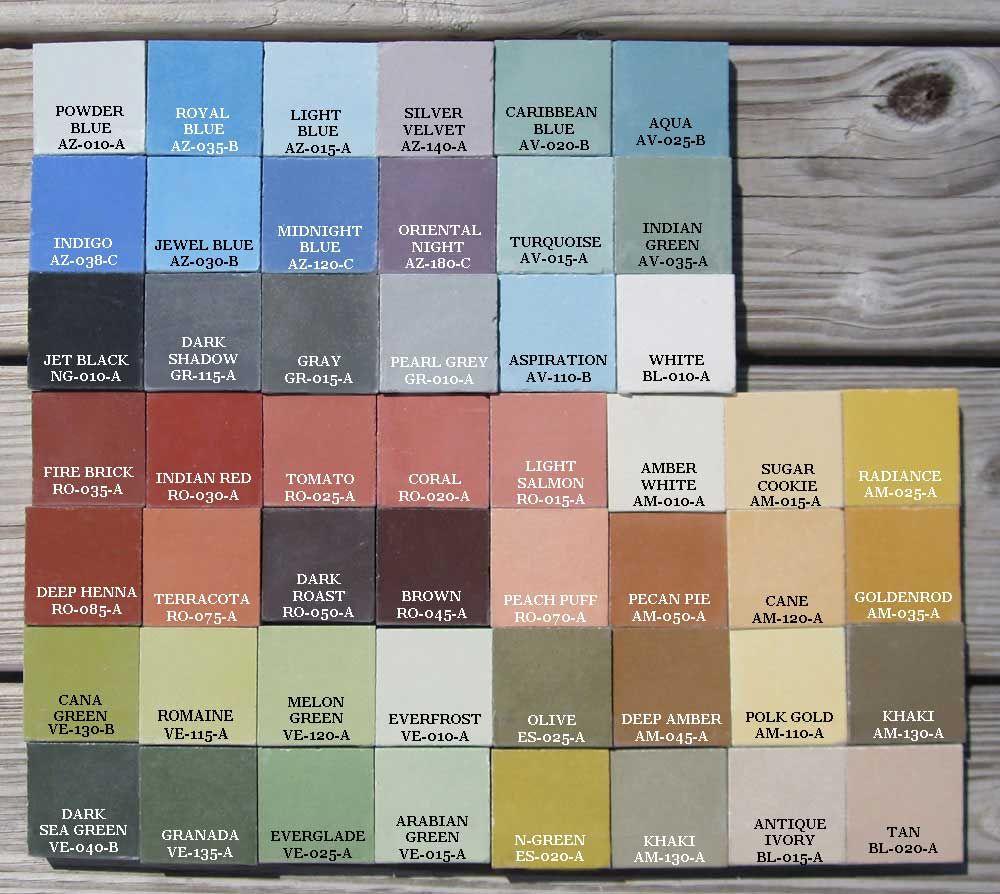 Cuban Colours Color Tile Cement Tile Concrete Color