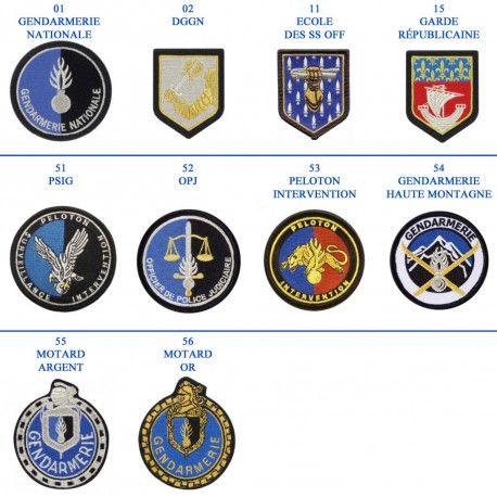 0814ecfad4d ÉCUSSONS SPÉCIALES BRODÉ GENDARMERIE Forces De L ordre