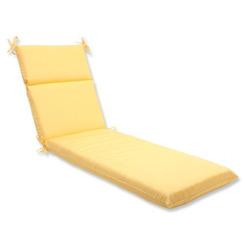 Includes One 1 Outdoor Chaise Cushion Resists Weather And Fading In Sunlight Sui Outdoor Chaise Lounge Cushions Chaise Lounge Cushions Yellow Chaise Lounge