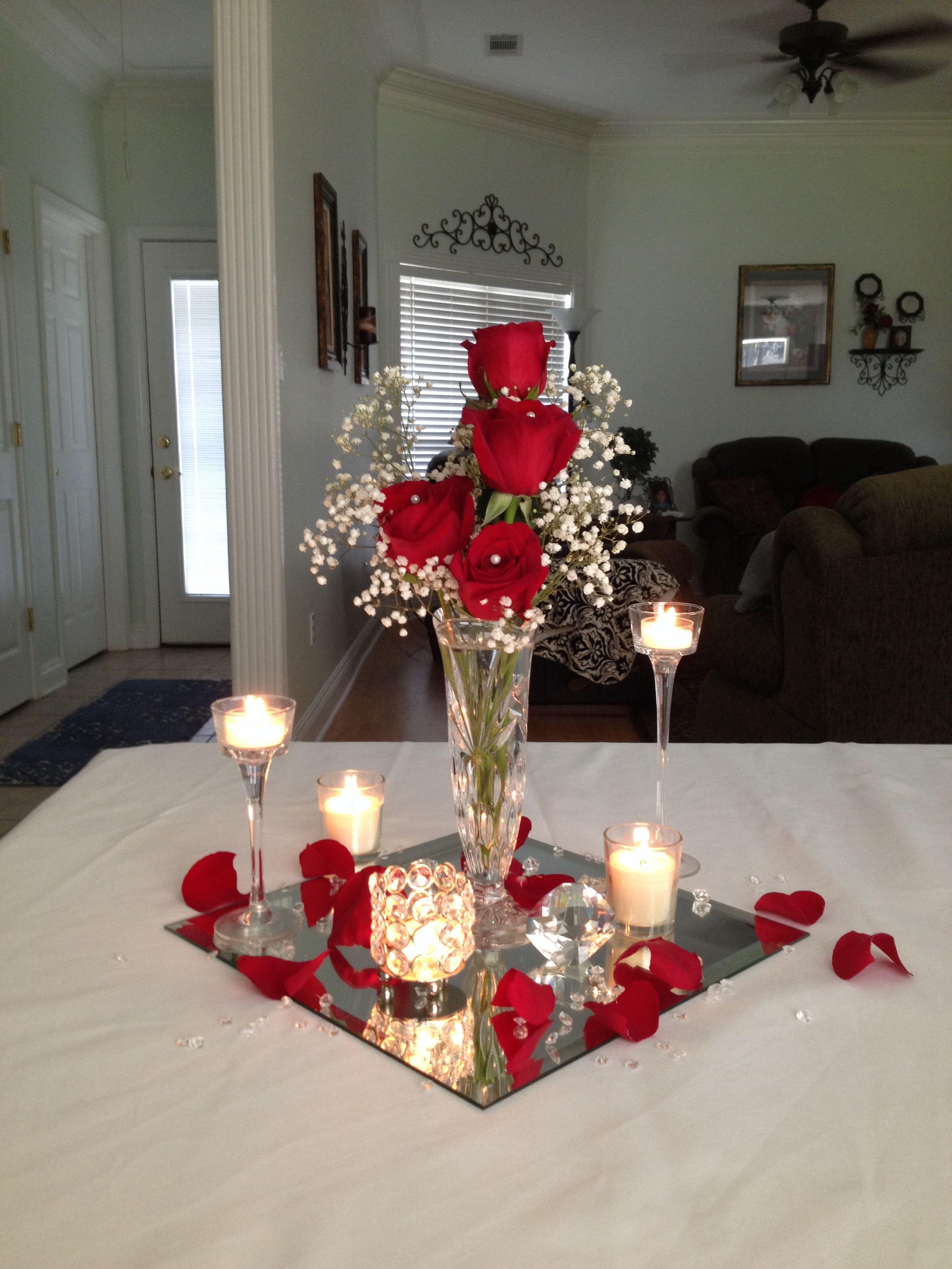 Wedding decorations red  Wedding centerpiece on a budget by Vera  Weddinguc  Pinterest