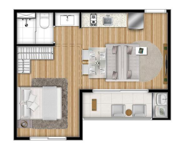 Vox vila olimpia exclusive apartamento planta 35m2 tipo - Apartamento tipo loft ...