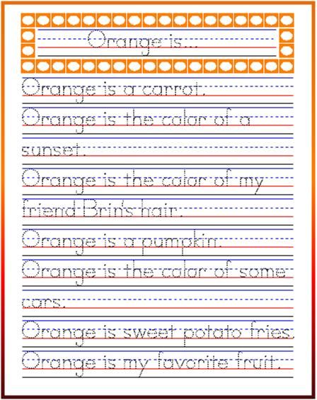 handwriting practice orange poetry handwriting. Black Bedroom Furniture Sets. Home Design Ideas