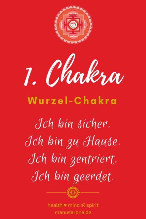Affirmation für 1. Chakra / Wurzelchakra / Muladhara