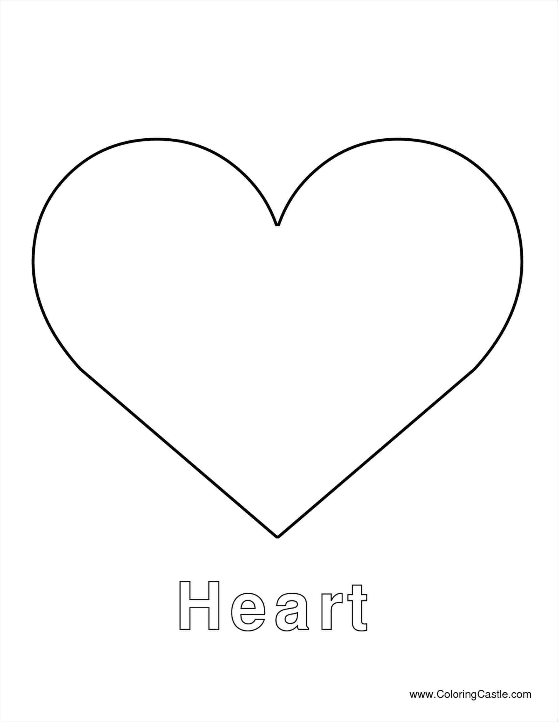 Full Page Heart Template Heart Template Heart Shapes Template