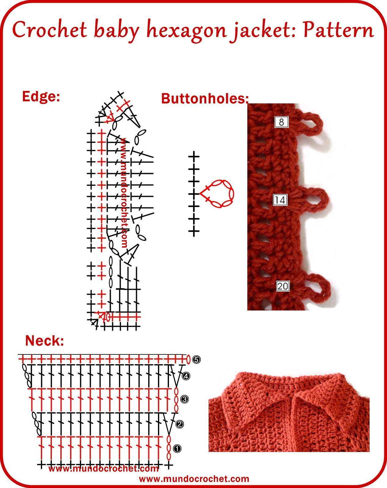 Campera-hexágono-roja-05en1.jpg 1,269×1,600 pixeles | Vestidos y ...