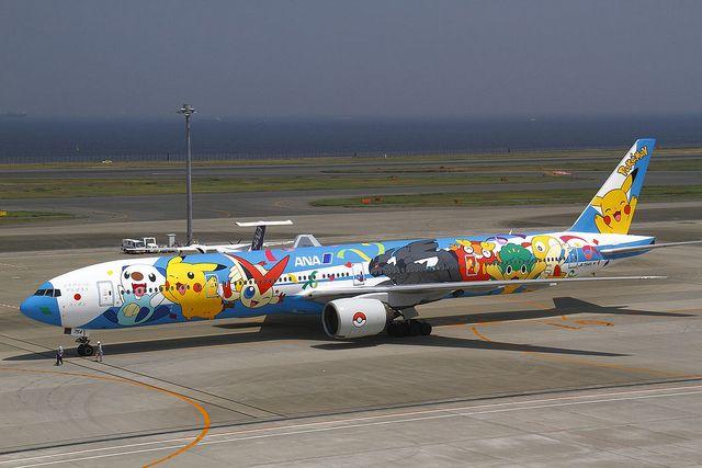 "ANA Boeing 777-381 JA754A ""Pokemon Peace Jet"" Tokyo Haneda"