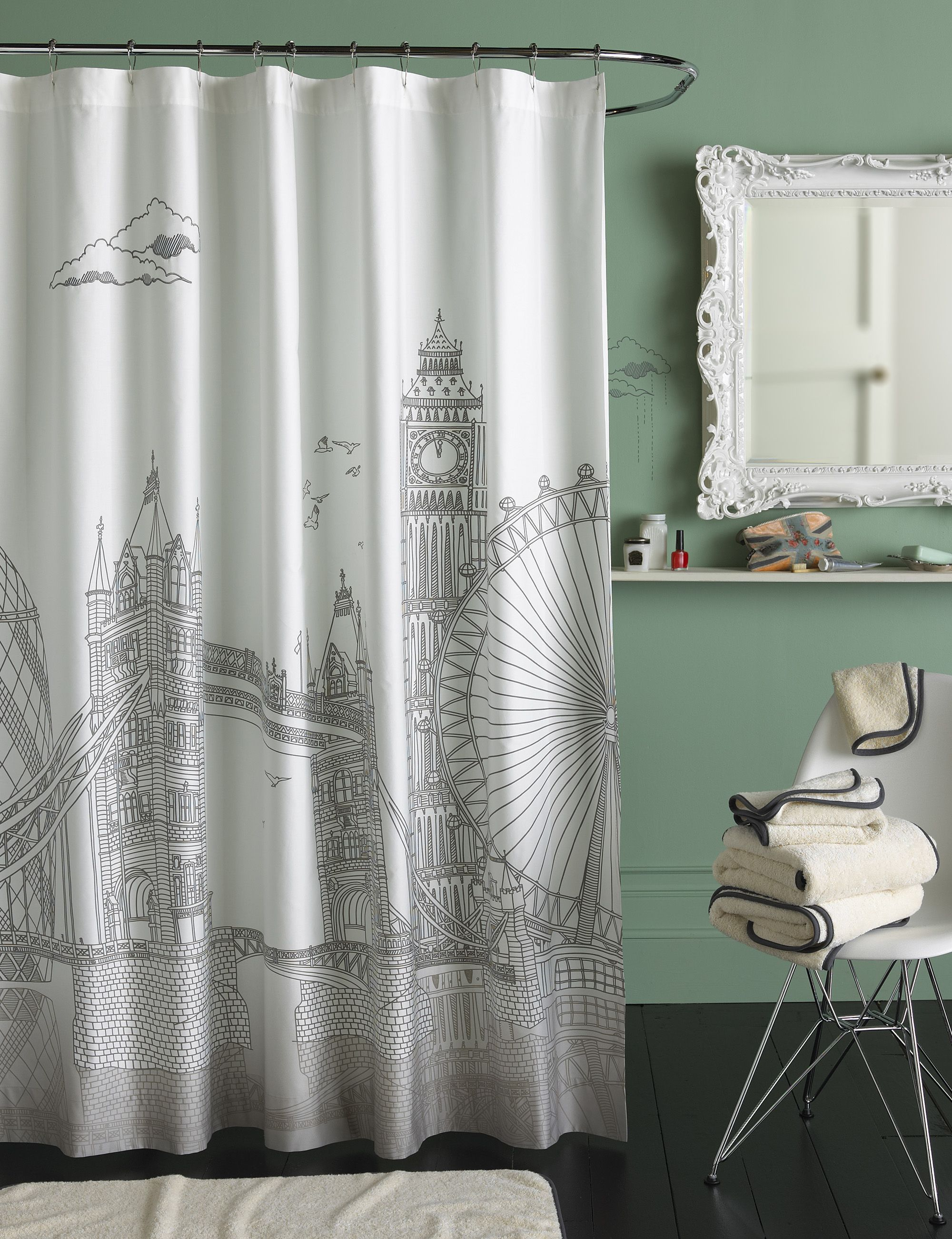 Blissliving Home London Shower Curtain - London Collection ...
