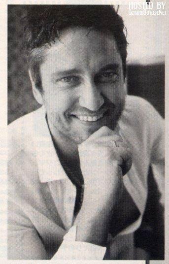 Gerard Butler beautiful smile <3