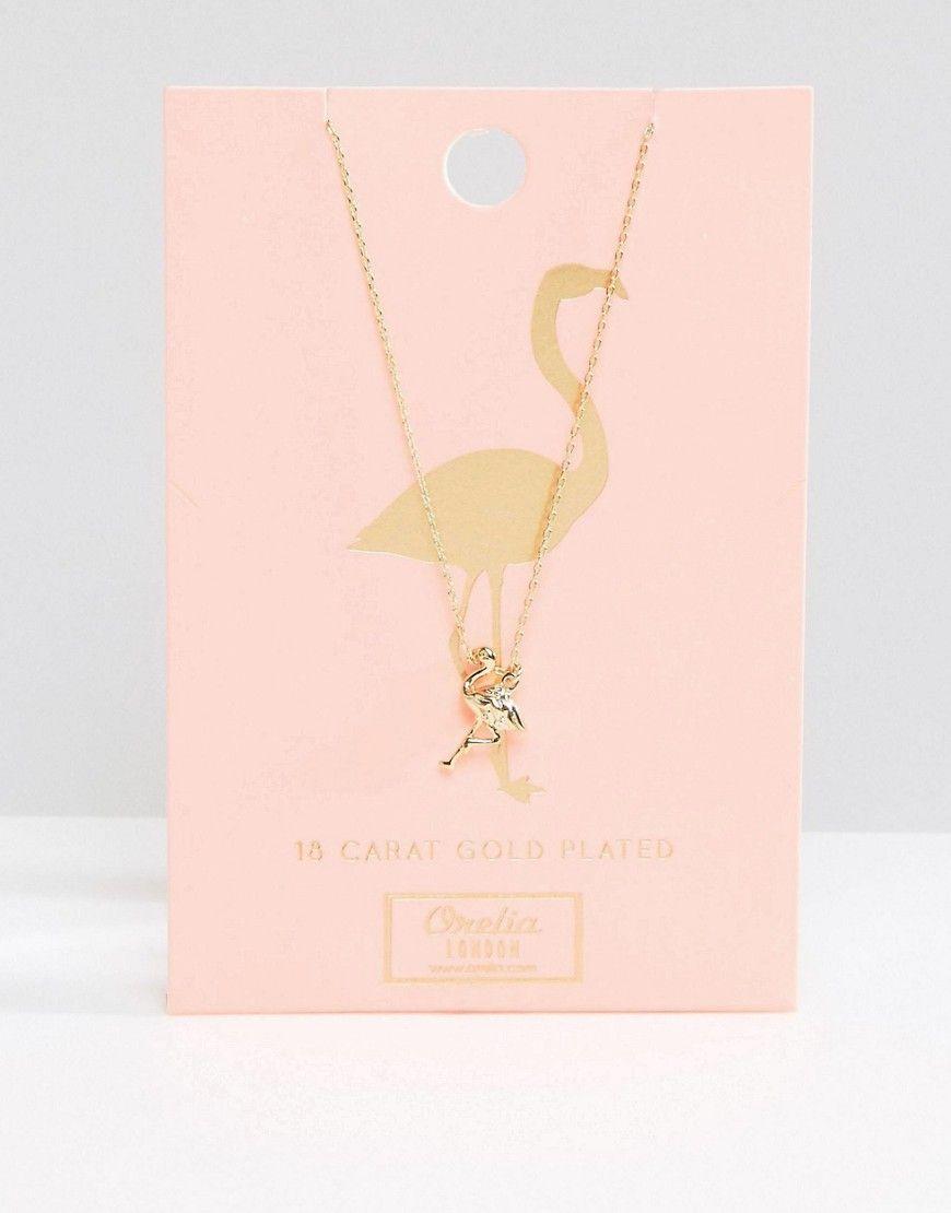 Bild 1 von Orelia – Halskette mit Flamingo- und Blumenanhänger