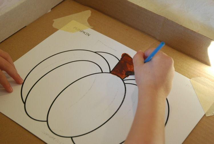 Marble Painting Pumpkins #marblepainting