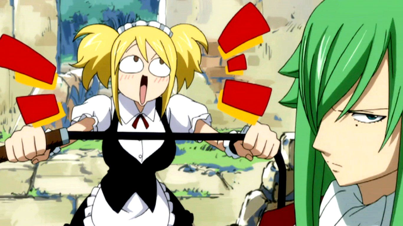 anime fairy tail funny Image Fake Lucy funny face.jpg