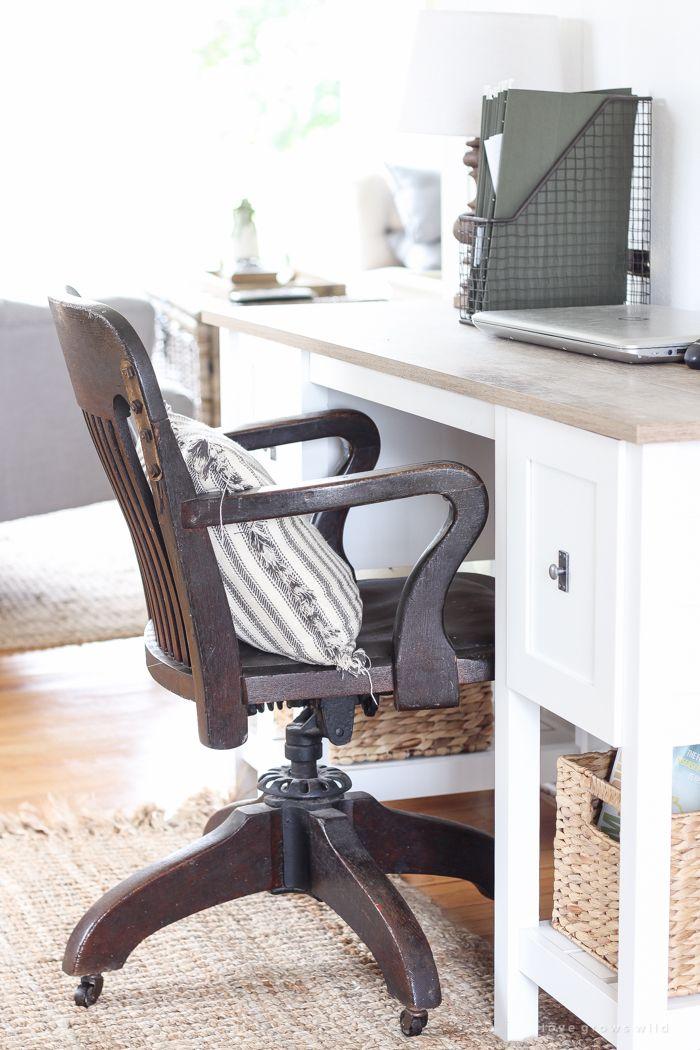 Our New Farmhouse Entryway Farmhouse office chairs, Home