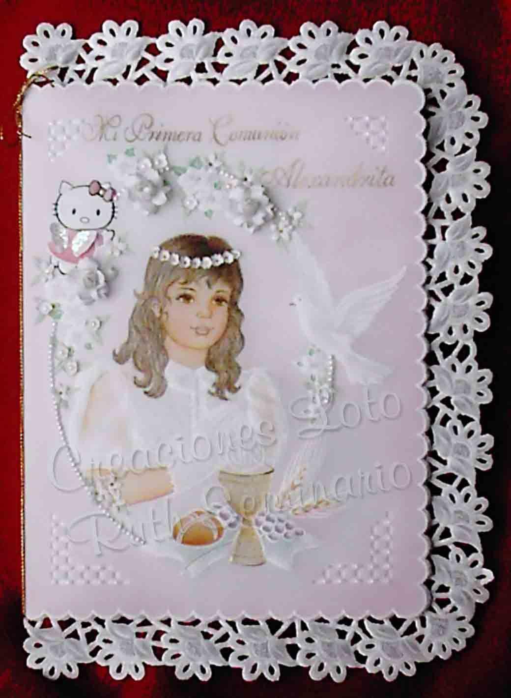Resultado de imagen de como hacer sobres para comunion con - Como hacer tarjetas para comunion ...
