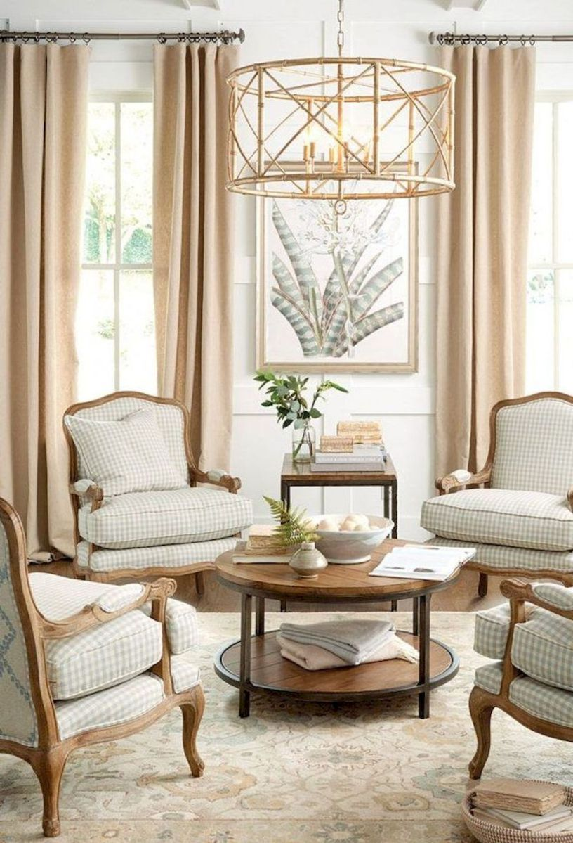 Stunning french country living room decor ideas (14