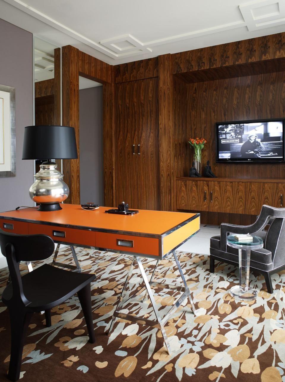 chic office design. Study / Home Office Design Photo By Jamie Herzlinger Interiors Album - Modern Glamour, Chic