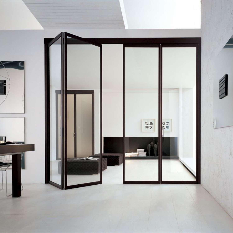 Porte vetro alluminio rivestite wenge a soffietto-1500