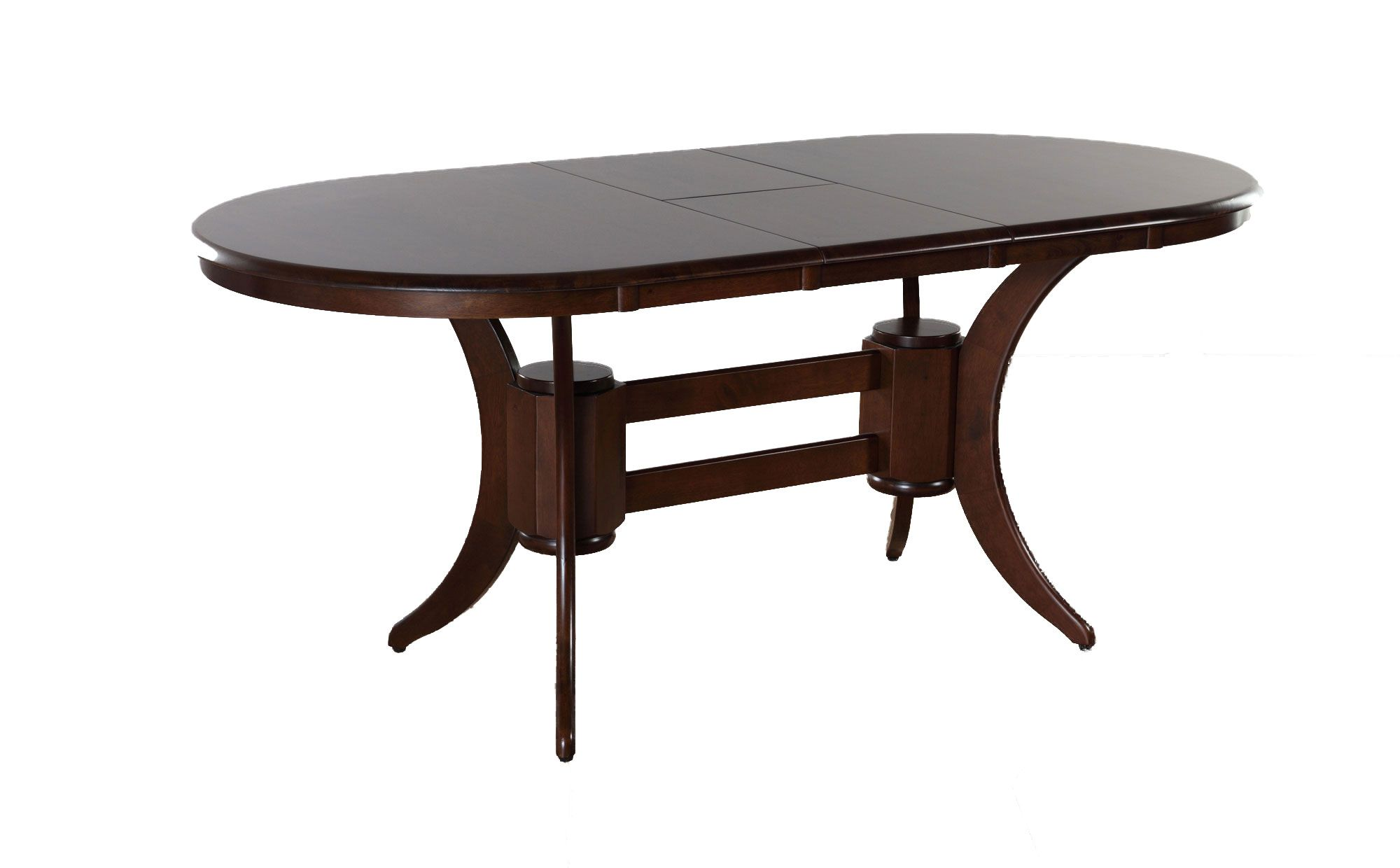 Townhouse Oval Dark Wood 150180cm Extending Dining Table
