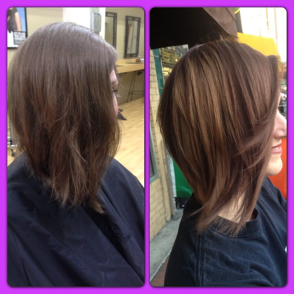 Before and after short hair