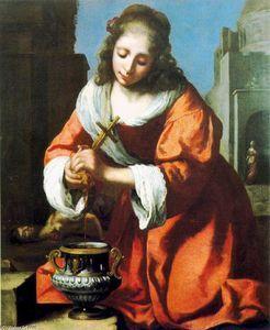 Saint Praxidis (2) - (Jan Vermeer) ▓█▓▒░▒▓█▓▒░▒▓█▓▒░▒▓█▓ Gᴀʙʏ﹣Fᴇ́ᴇʀɪᴇ ﹕ Bɪᴊᴏᴜx ᴀ̀ ᴛʜᴇ̀ᴍᴇs ☞  http://www.alittlemarket.com/boutique/gaby_feerie-132444.html ▓█▓▒░▒▓█▓▒░▒▓█▓▒░▒▓█▓