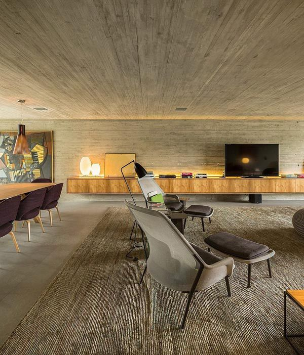 Notre maison · interiores brutalist com muito concreto block screens studio mk27architectureconcrete