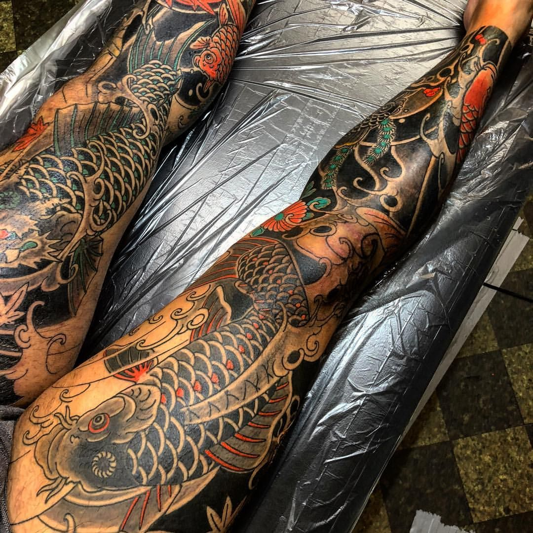 Pin By Paulo Vitor On Japanese Style Tattoo Japanese Tattoo Leg Tattoos Japanese Sleeve Tattoos
