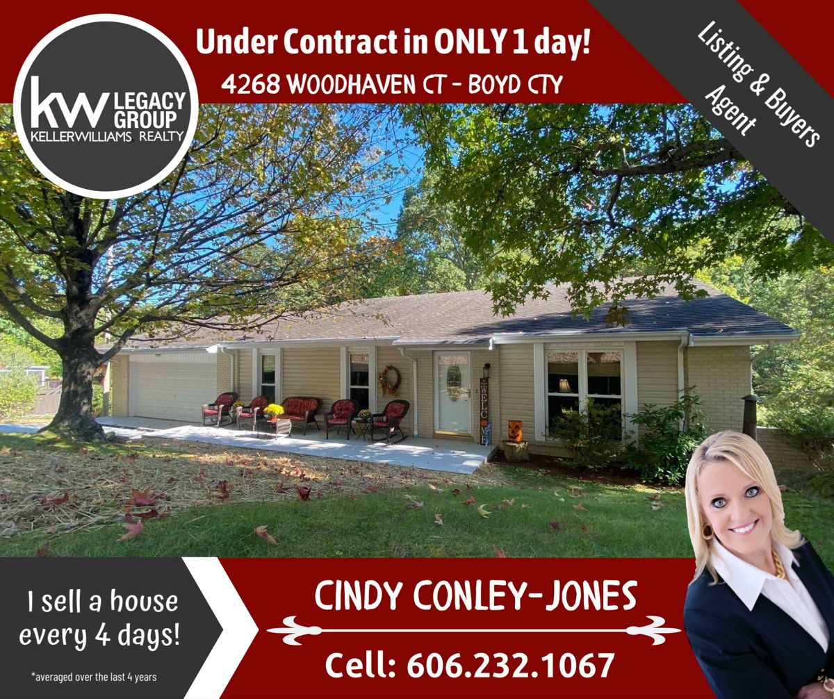 Under Contract In 1 Day In 2020 Selling House Woodhaven Ashland Kentucky