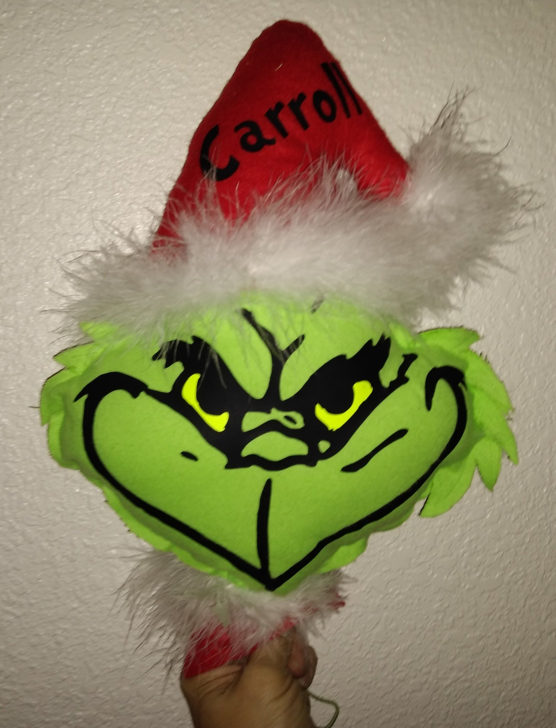 Grinch head   Etsy   Grinch hands, Fabric covered