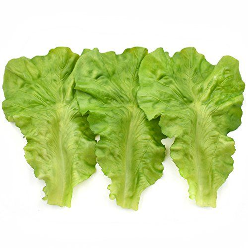 Green Lettuce Leaves Material Fake Vegetable Model Props Kids Pretend Play 10Pcs