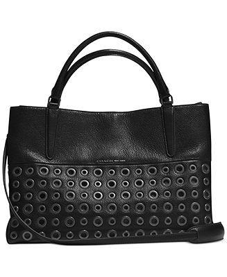 coach the grommets soft borough bag in pebbled leather coach rh pinterest co uk