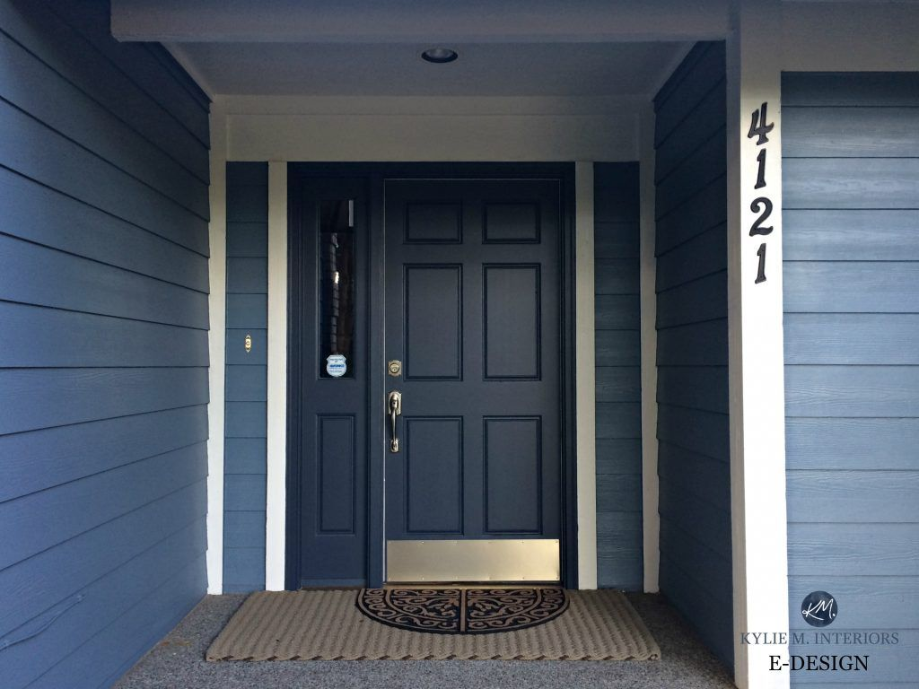 front door painted benjamin moore hale navy blue siding and white trim best paint