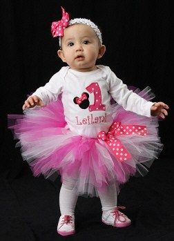 Buy Minnie Mouse 1 Year Old Birthday Outfit Off 50