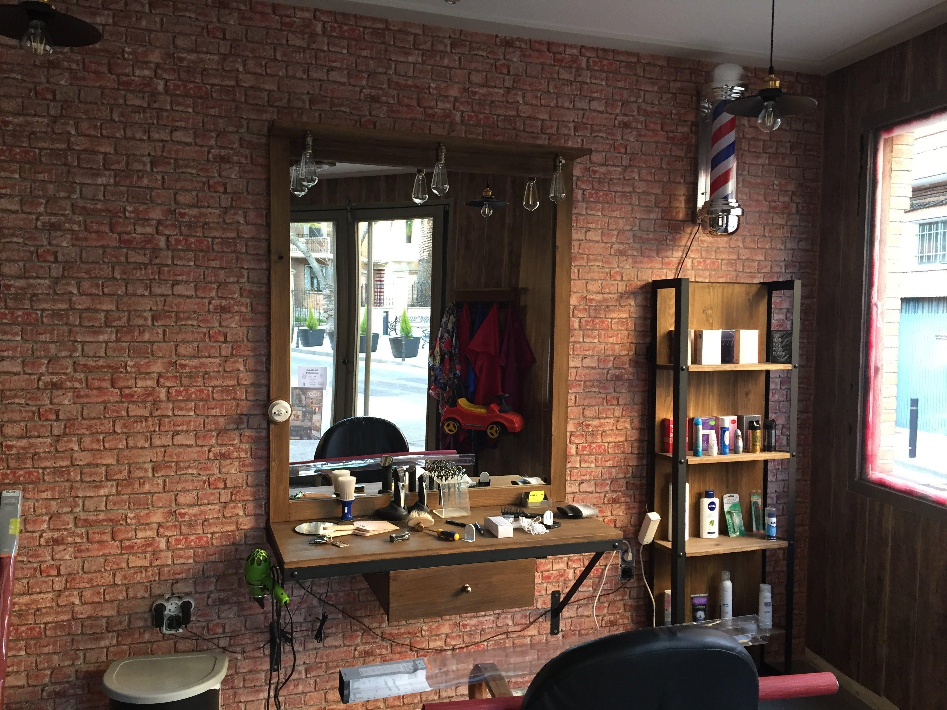 Mesa y espejo de peluqueria vintage todo es artesanal for Peluqueria mesa y lopez