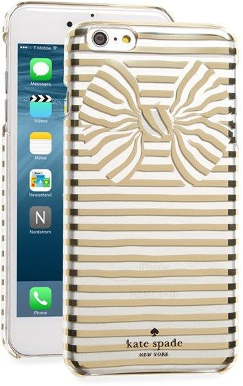 kate spade new york stripe bow iPhone 6 Plus & 6s Plus case
