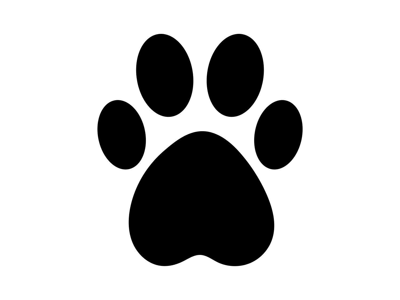 Animal Or Pet Clipart Large Black White Basic Dog Or Puppy Etsy Puppy Paw Prints Dog Paw Print Craft Paw Print Art