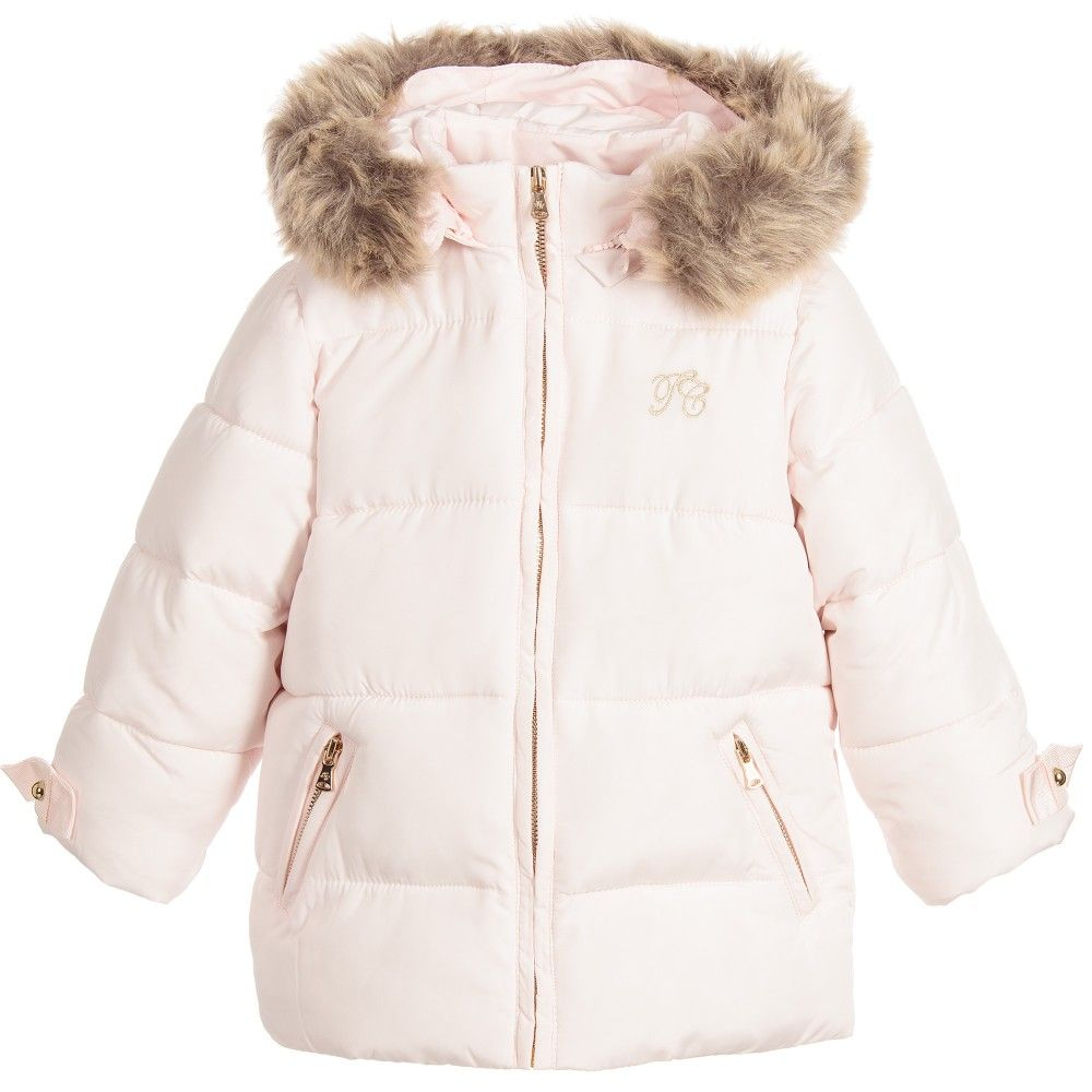 147603232 Tartine et Chocolat Baby Girls Pink Padded Coat with Hood at ...