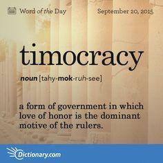 Timocracy Lead By Example Palabras Vocabulario Diccionario