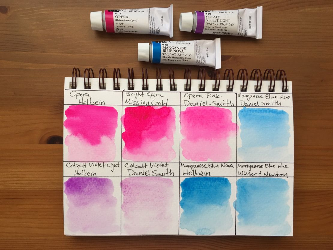 Doodlewash Review Holbein Watercolors Watercolor Pink