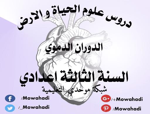 درس الدوران الدموي للسنة الثالثة اعدادي Arabic Calligraphy Calligraphy