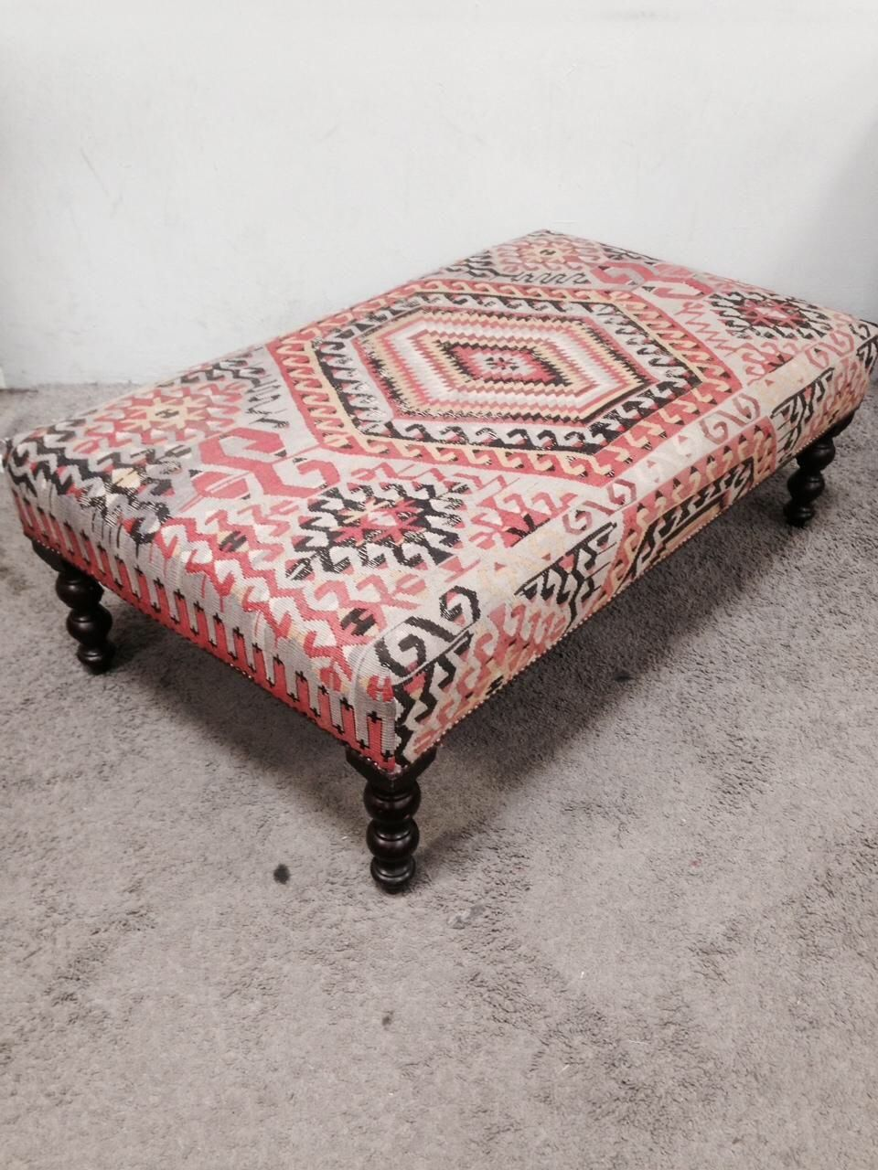 George Smith Boho Chic Kilim Ottoman On Chairish Com