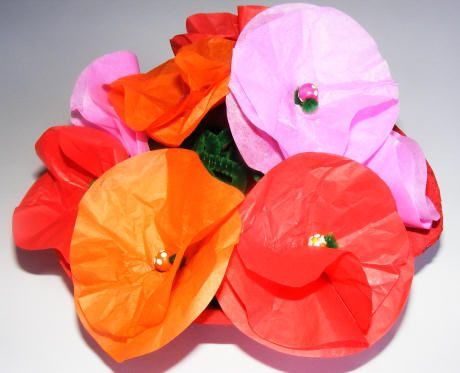 Tissue paper flowers circles of tissue paper beads pipe cleaners tissue paper flowers circles of tissue paper beads pipe cleaners mightylinksfo Gallery